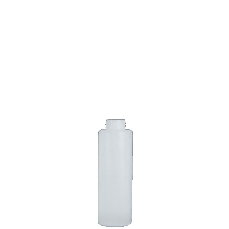 Flacone circolare 100 ml HDPE/PP, collo 24 mm, linea ISCHIA