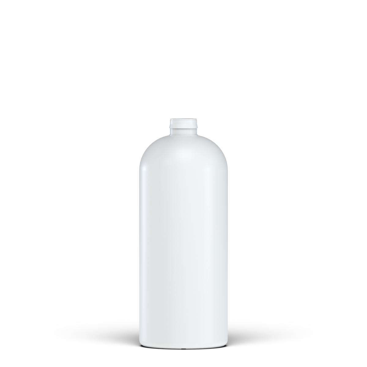 Cylindrical bottle for vinyl glue 250 ml HDPE, neck snap-on, style NAIROBI