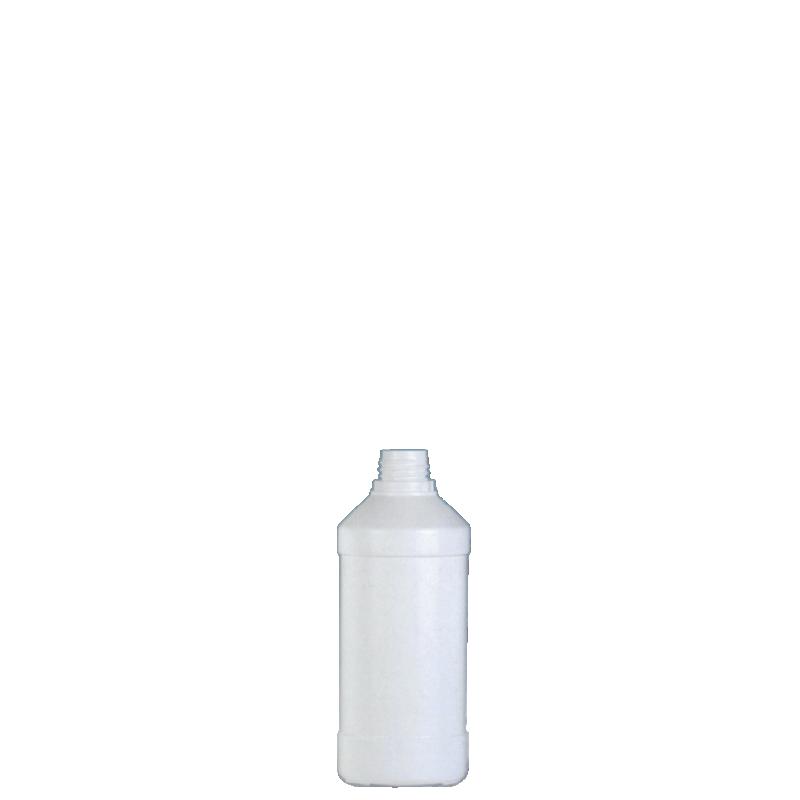 Cylindrical bottle 100 ml HDPE, neck 22TE, style ANTIGUA