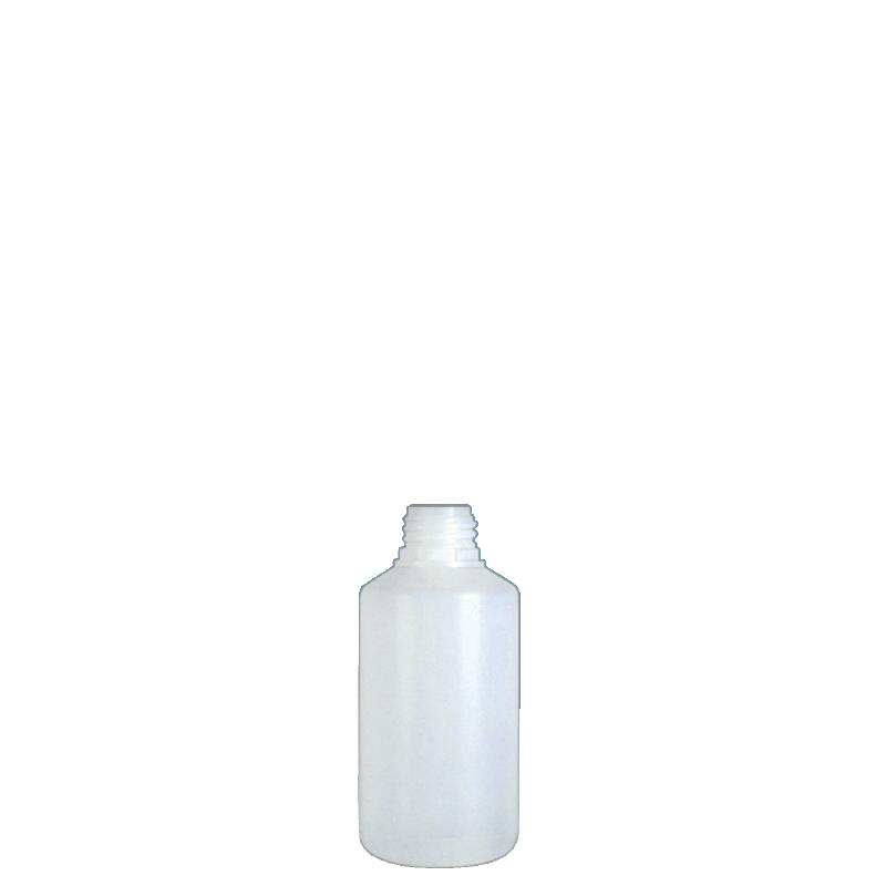 Cylindrical bottle 250 ml HDPE, neck 28TE, style ANTIGUA