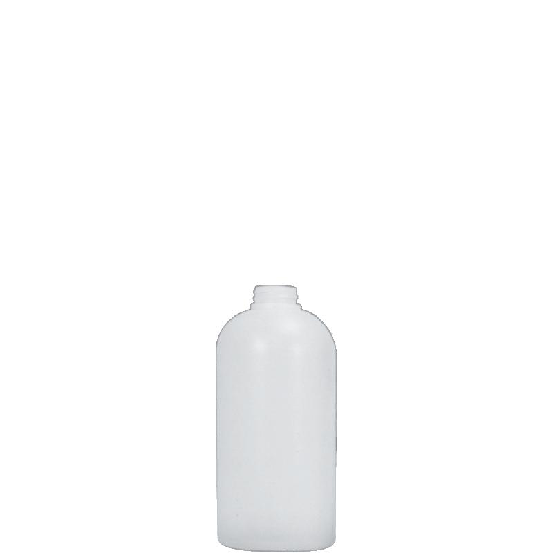 Flacone circolare spalla raggiata 500 ml HDPE, collo 28/400, linea TALLIN