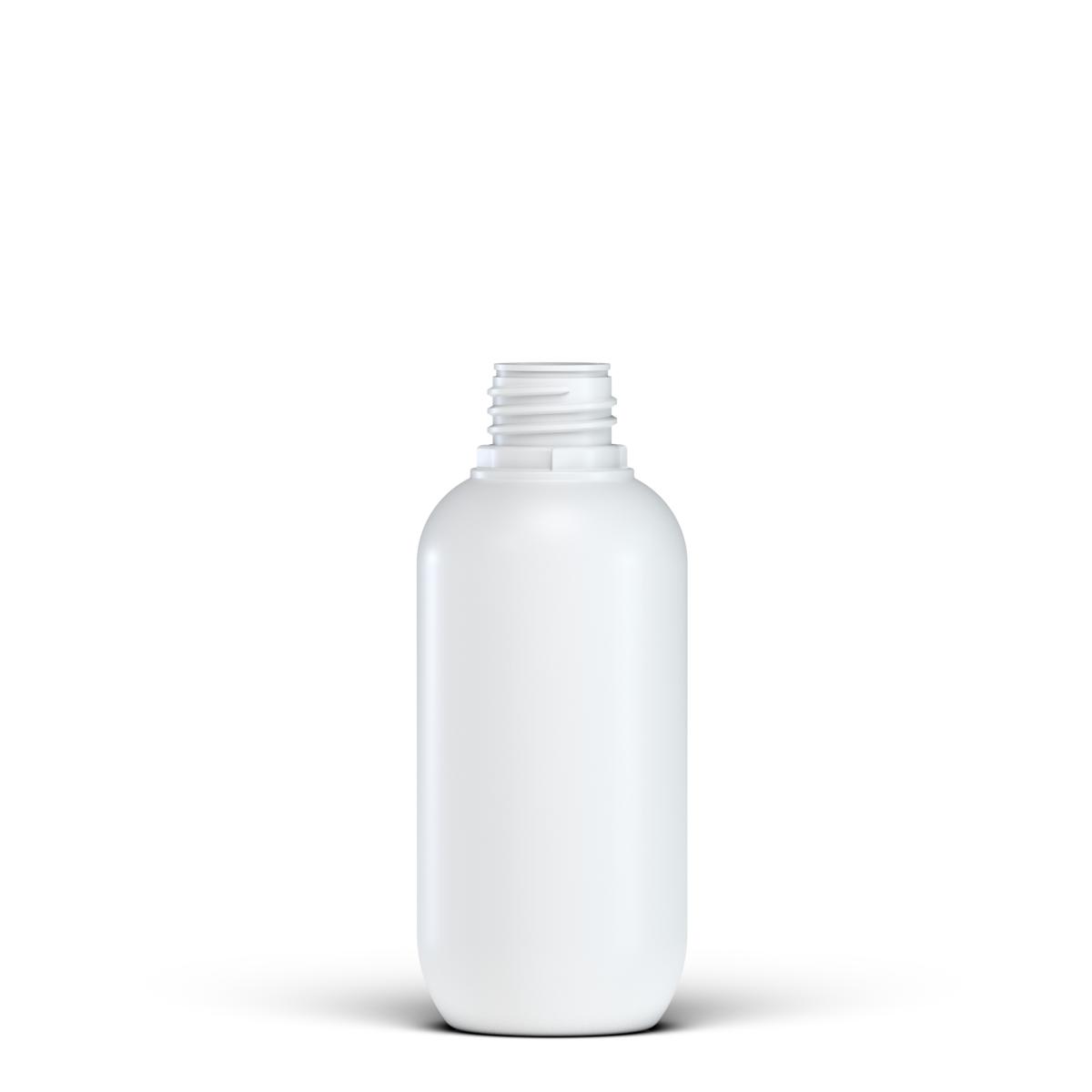 Round bottle 250 ml HDPE, neck 28TE, style BERNA