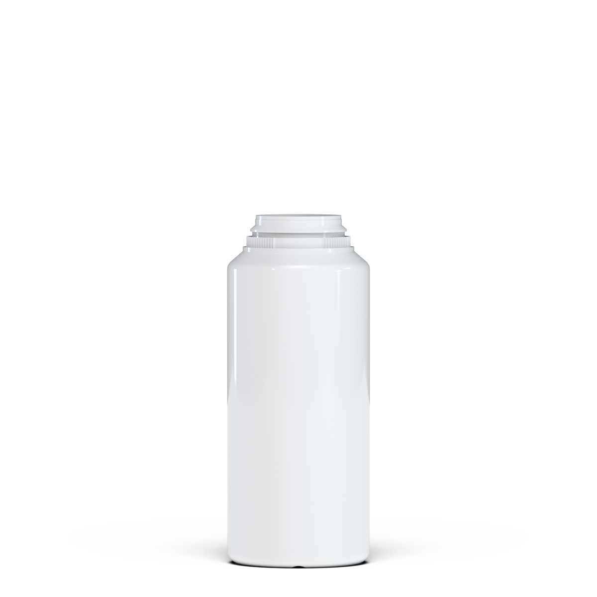 Round container for talc 250 ml PVC, neck snap-on, style BERNA
