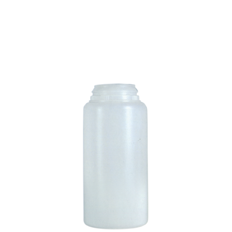Round container for talc 100 ml HDPE, neck snap-on, style BERNA