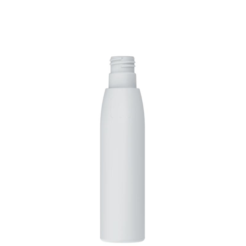 Flacone cilindrico 250 ml HDPE/PP, collo 24, linea ISCHIA