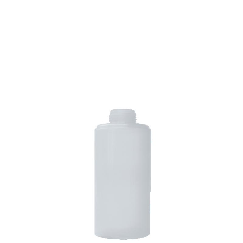 Flacone circolare 300 ml HDPE/PP, collo 24 disc-top, linea NEW YORK