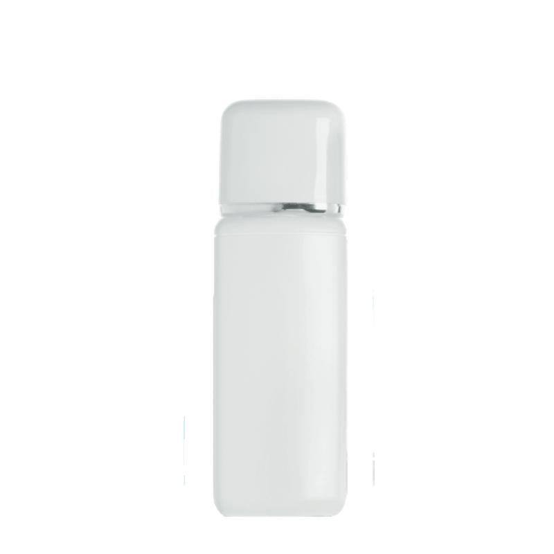 Flacone rettangolare 100 ml HDPE/PP, collo 20 mm, linea TOKYO