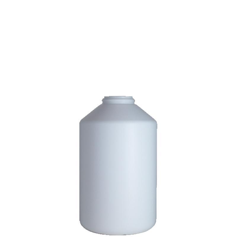Powder bottle 600 ml HDPE, neck 30mm, style GOA