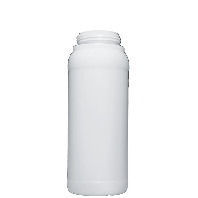 Cylindrical bottle 1 lt HDPE/COEX, neck DIN63, style ZANZIBAR