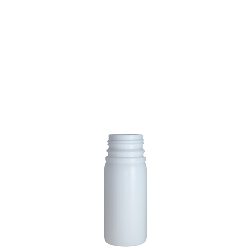 Cylindrical container 100 ml HDPE/COEX, neck DIN38, style ZANZIBAR (Real)