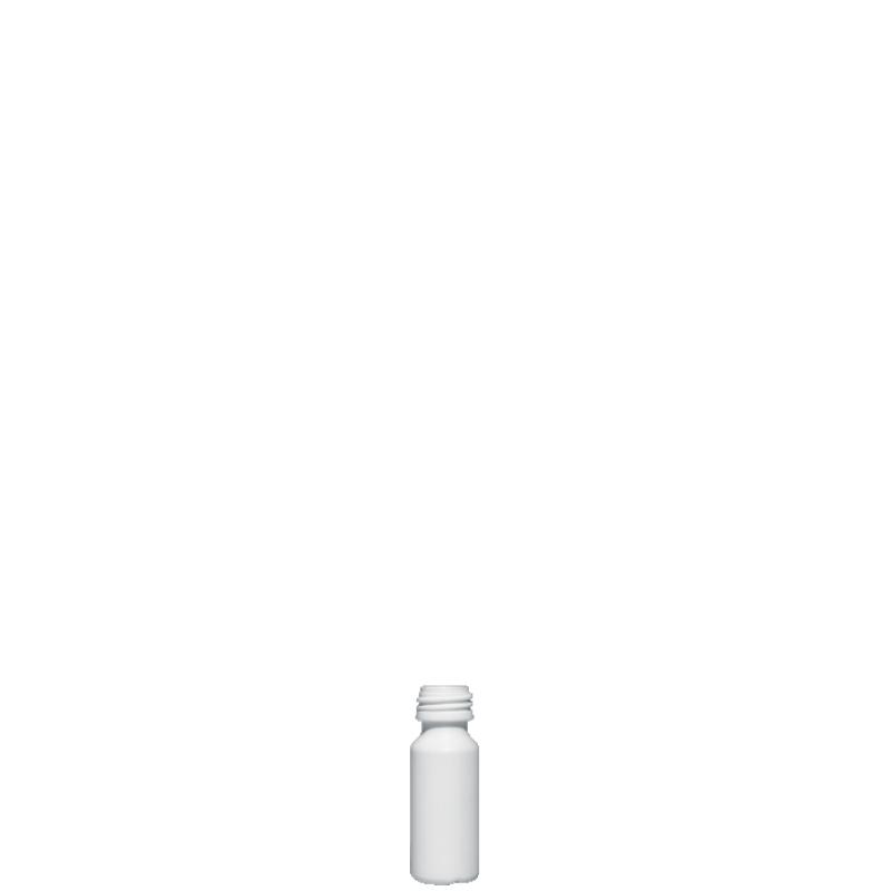 Cylindrical phial 10 ml HDPE, neck PFP18, style ZANZIBAR (Real)
