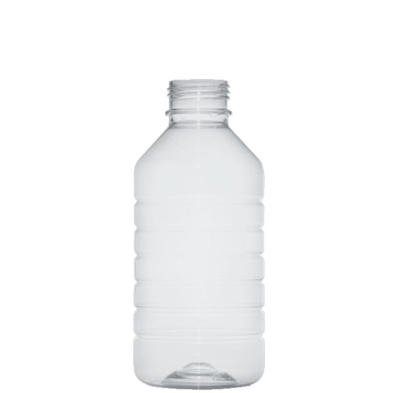 Cylindrical bottle 1 lt PET, neck DIN45, style ZANZIBAR