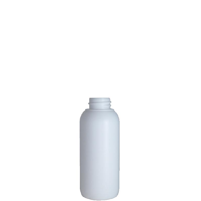 Cylindrical bottle150 ml HDPE/COEX, neck 28 mm, style ZANZIBAR