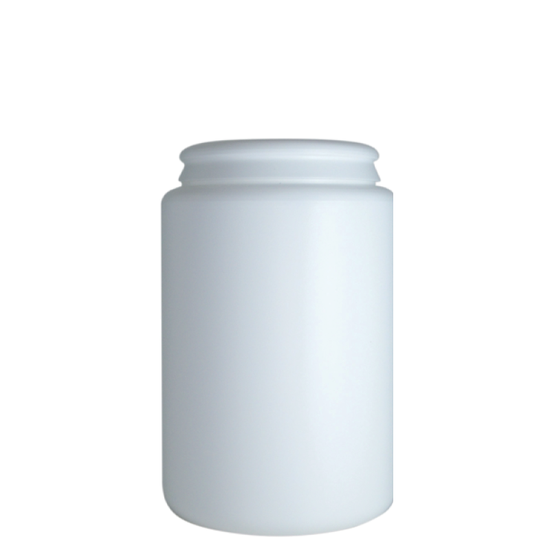 Contenitore cilindrico 1 lt HDPE, collo snap-on, linea AMIRANTES