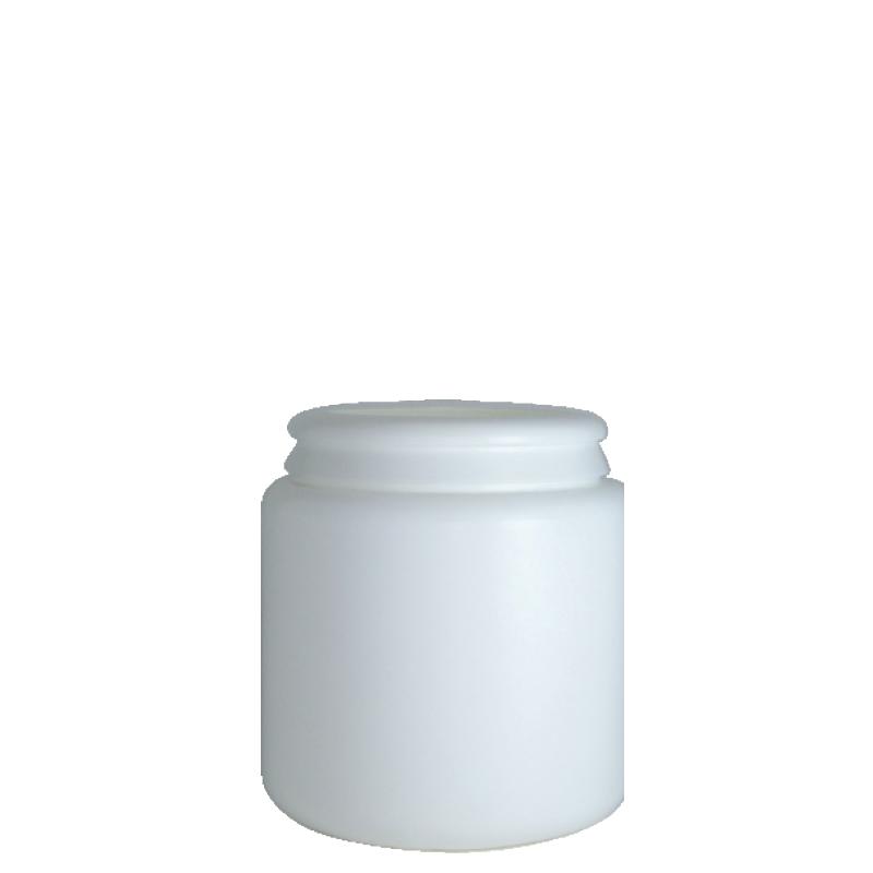 Contenitore cilindrico 600 ml HDPE, collo snap-on, linea AMIRANTES