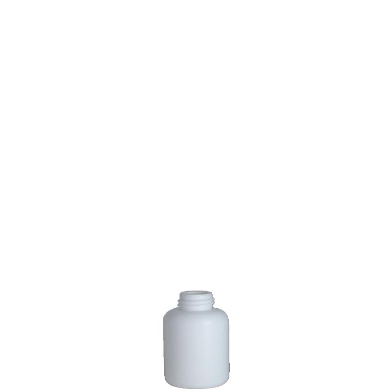 Cylindrical bottle 50 ml HDPE/COEX, neck DIN25, style ZANZIBAR (Real)
