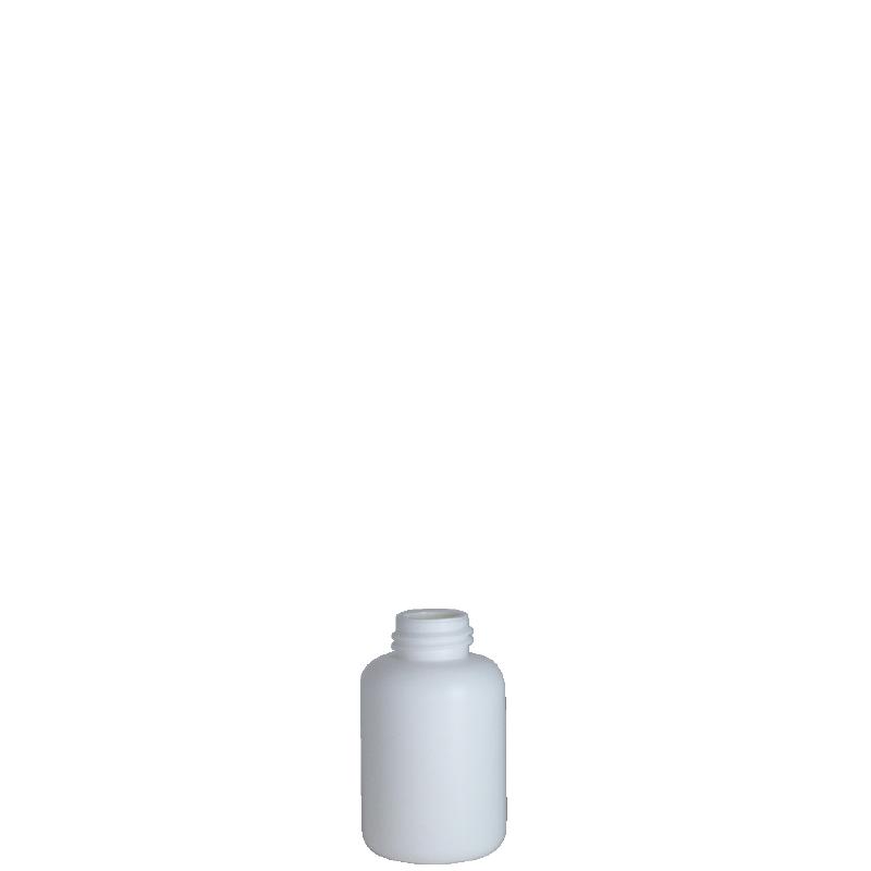Cylindrical bottle 80 ml HDPE/COEX, neck DIN25, style ZANZIBAR
