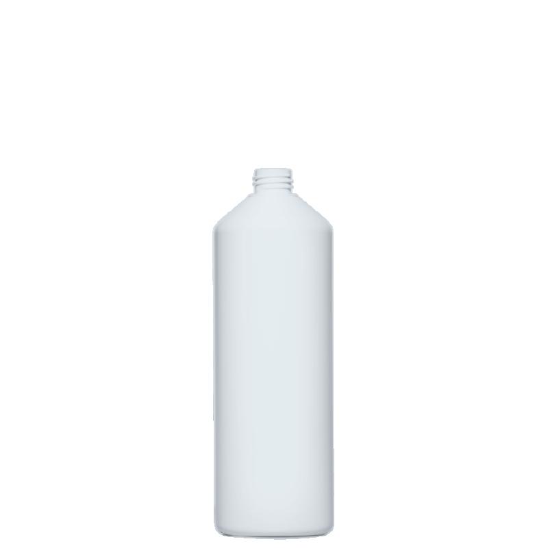 Cylindrical bottle 1lt HDPE/COEX, neck 28/410, style ANTIGUA