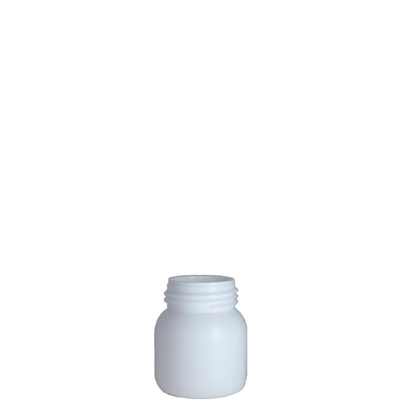 Cylindrical bottle 100 ml HDPE/COEX, neck DIN50TI, style ZANZIBAR