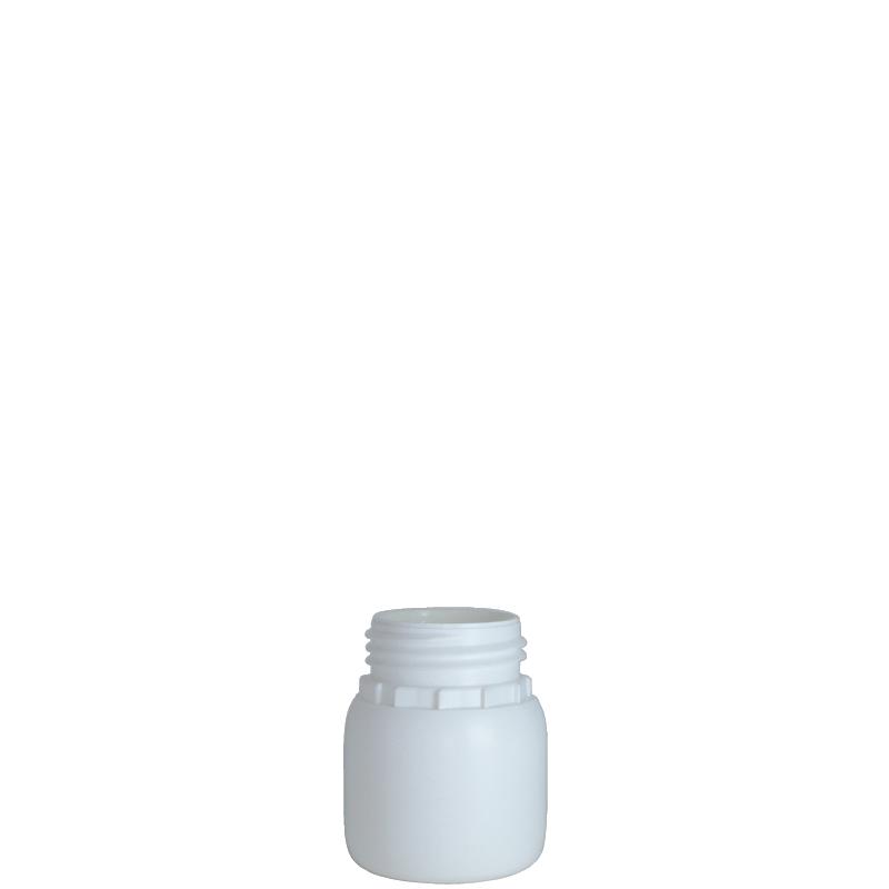 Cylindrical bottle 100 ml HDPE/COEX, neck DIN50TE, style ZANZIBAR