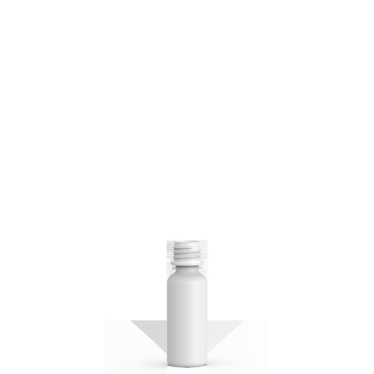 Cylindrical phial 20 ml HDPE, neck 18 mm, style ZANZIBAR