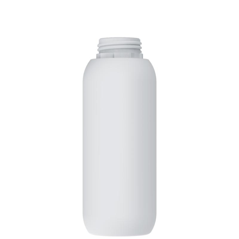 Cylindrical bottle 1 lt HDPE/COEX, neck DIN55, style ZANZIBAR