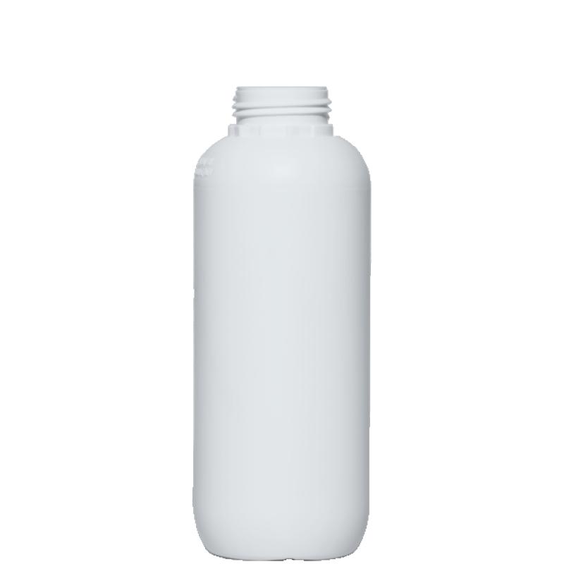 Cylindrical bottle 1 lt HDPE/COEX, neck DIN50TI, style ZANZIBAR