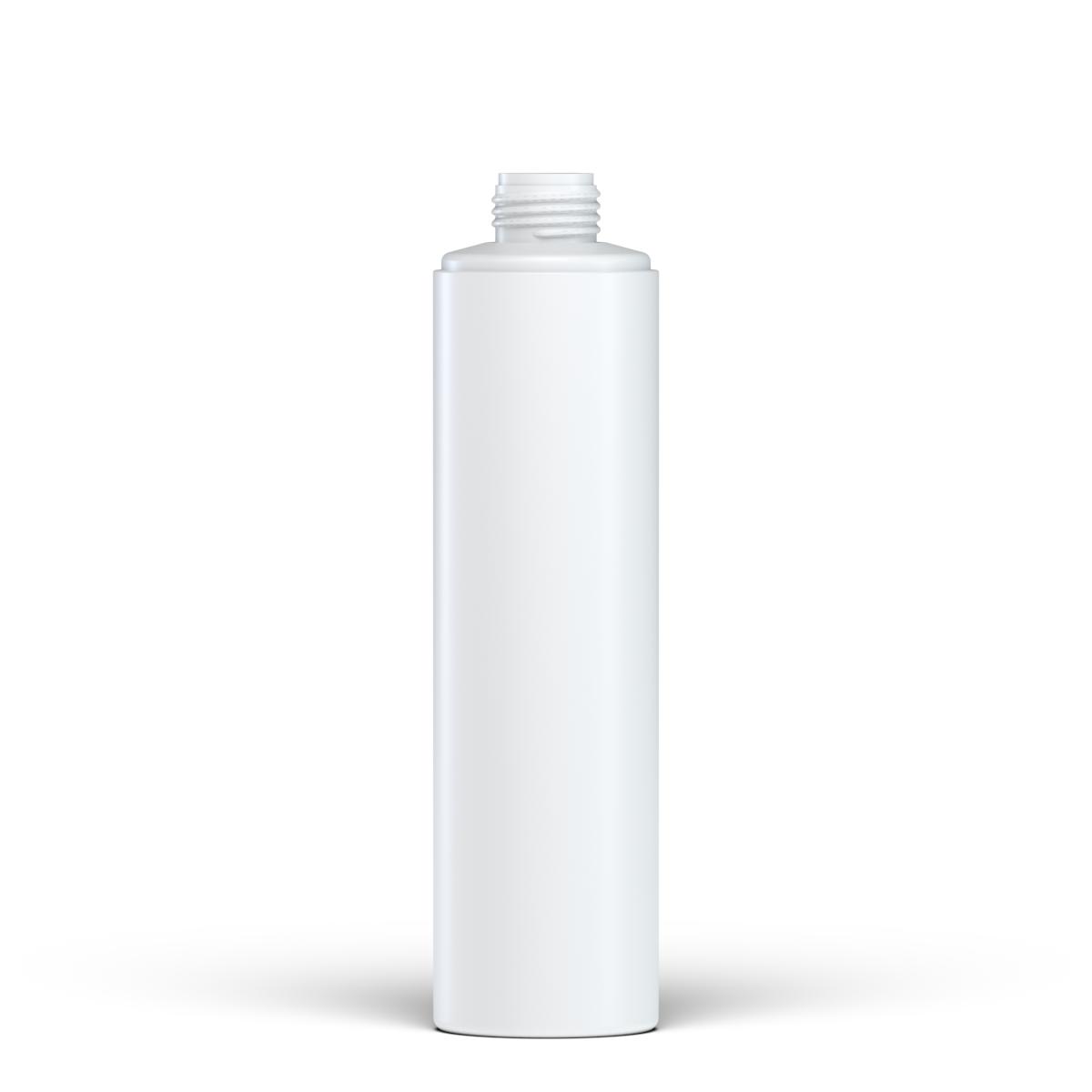 Flacone circolare 250 ml HDPE/PP, collo 24 disc-top, linea NEW YORK