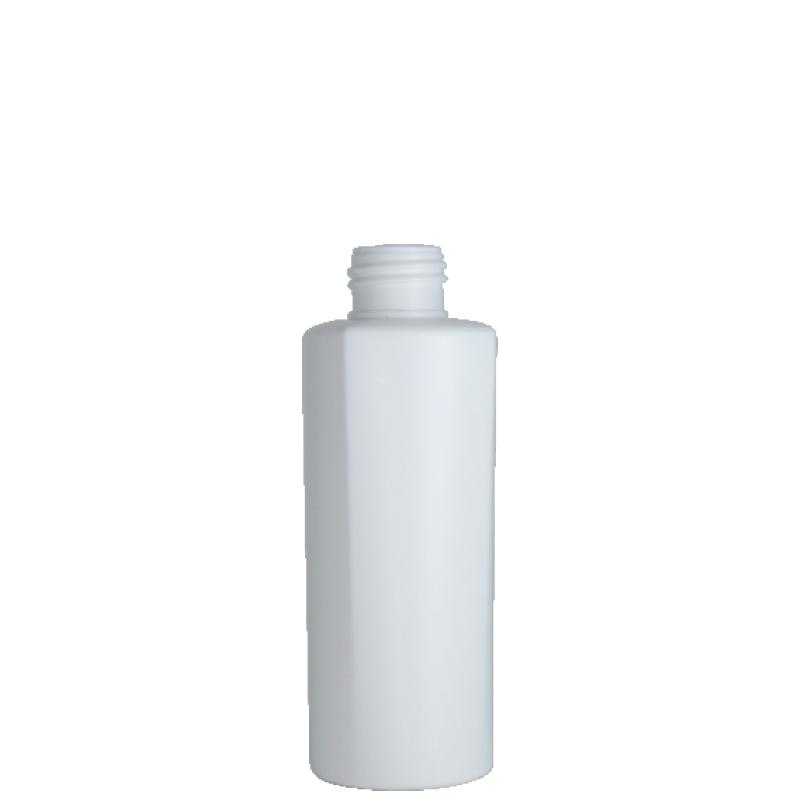 Flacone semi-cilindrico 150 ml, HDPE/PP, collo 24/410, linea LOS ANGELES