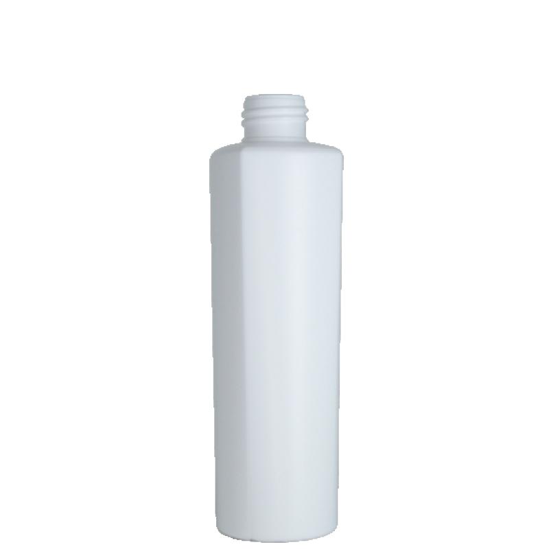 Flacone semi-cilindrico 200 ml, HDPE/PP, collo 24/410, linea LOS ANGELES