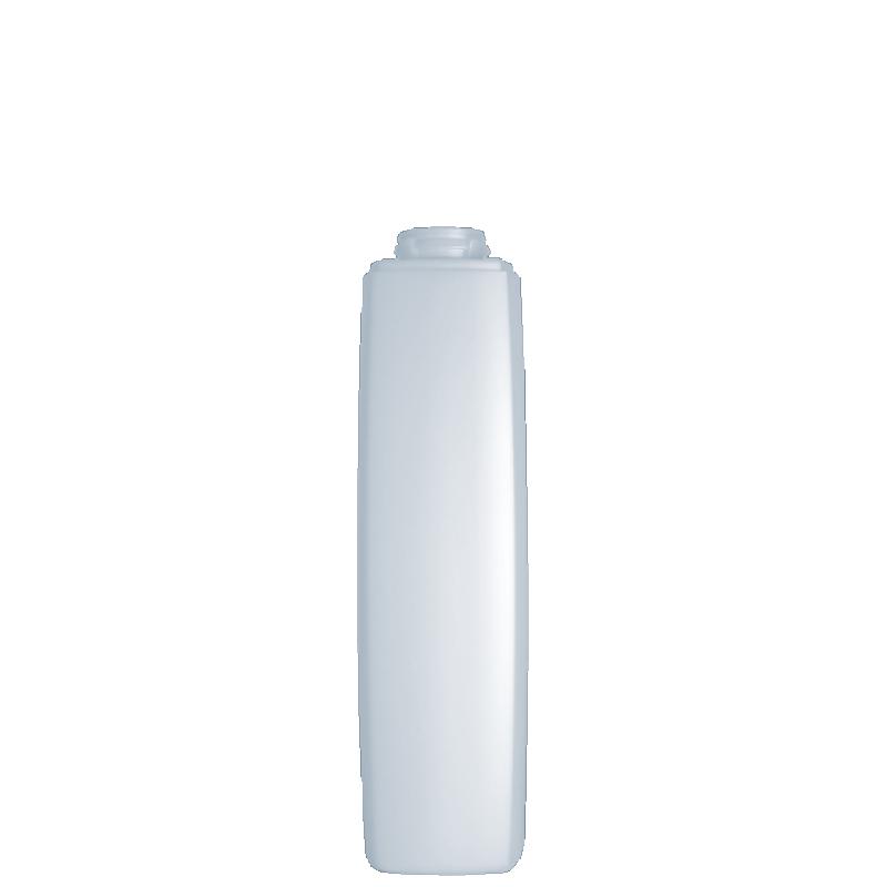 Flacone quadrato 250 ml HDPE/PP, collo snap-on, linea DAMASCO