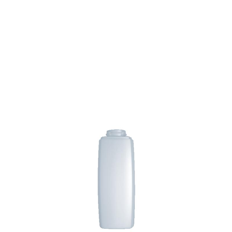 Flacone quadrato 150 ml HDPE/PP, collo snap-on, linea DAMASCO
