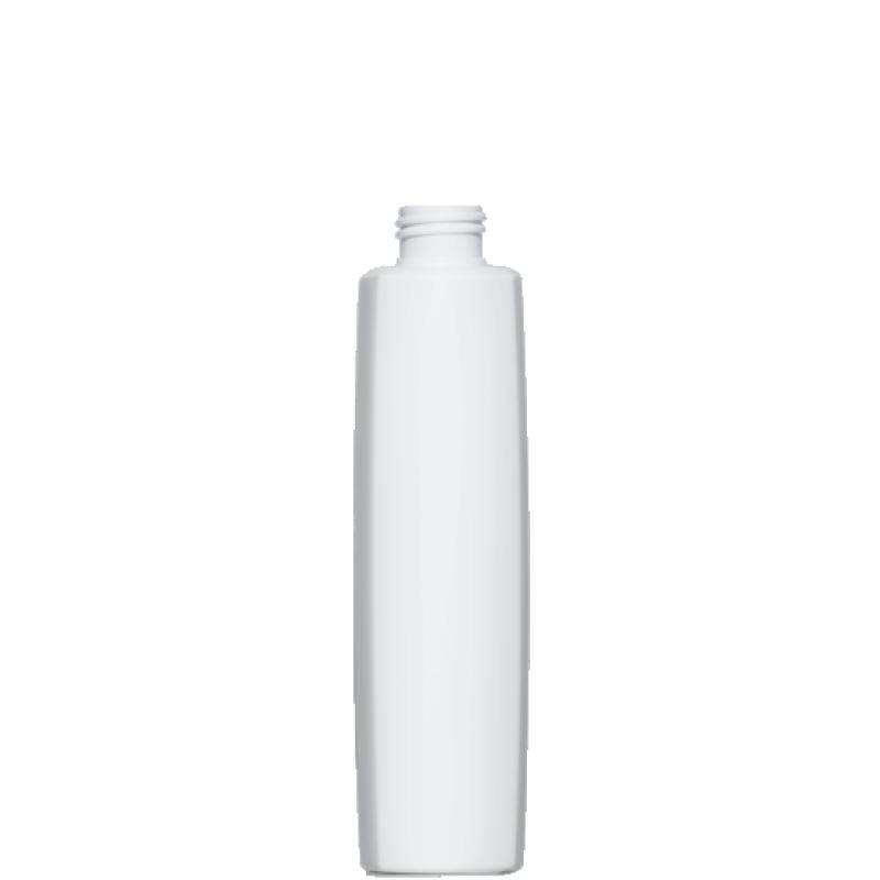 Flacone quadrato 250 ml HDPE/PP, collo 24/410, linea DAMASCO (Reale)