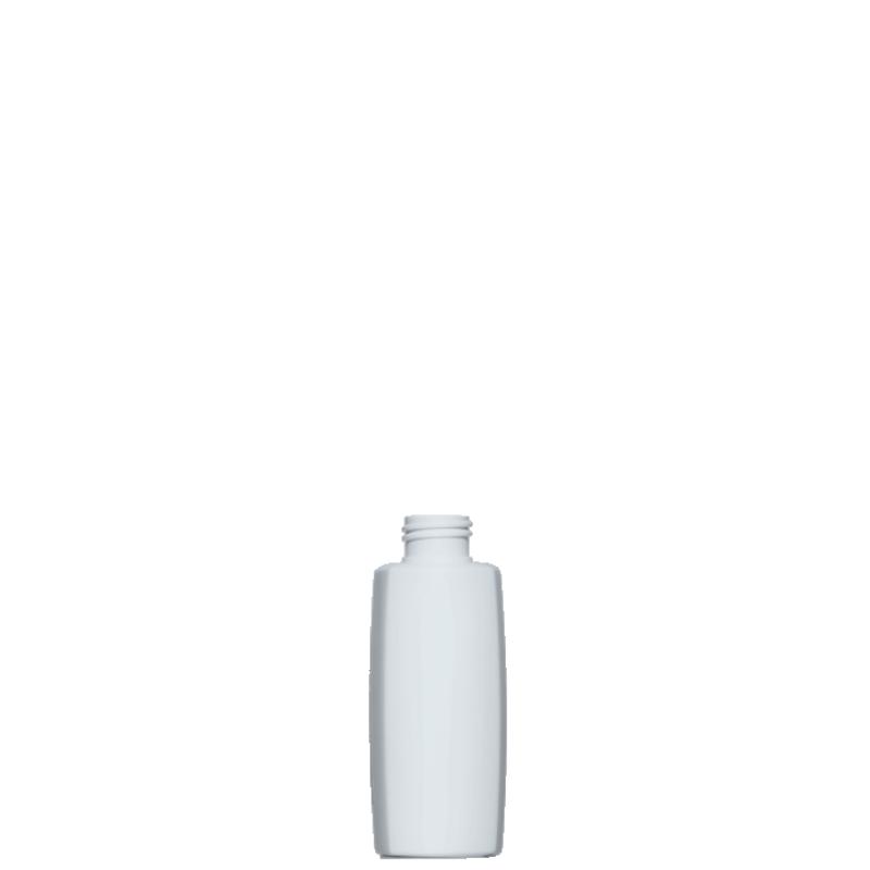 Flacone quadrato 150 ml HDPE/PP, collo 24/410, linea DAMASCO