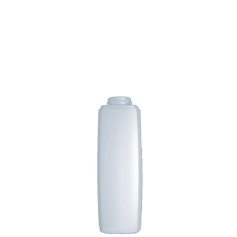 Flacone quadrato 200 ml HDPE/PP, collo snap-on, linea DAMASCO