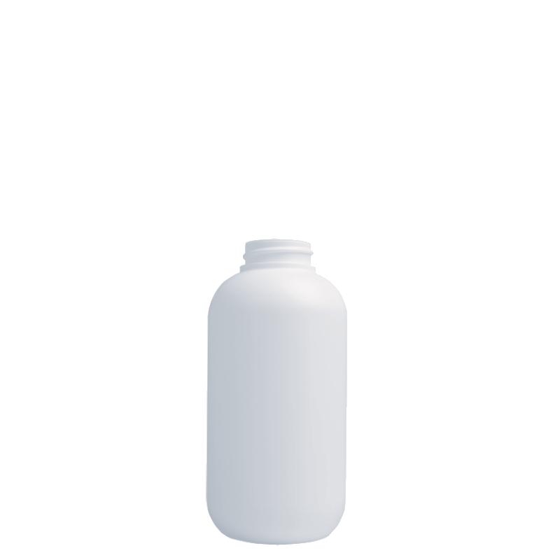 Flacone circolare 250 ml HDPE/SOFT TOUCH, collo 33/400, linea ISCHIA