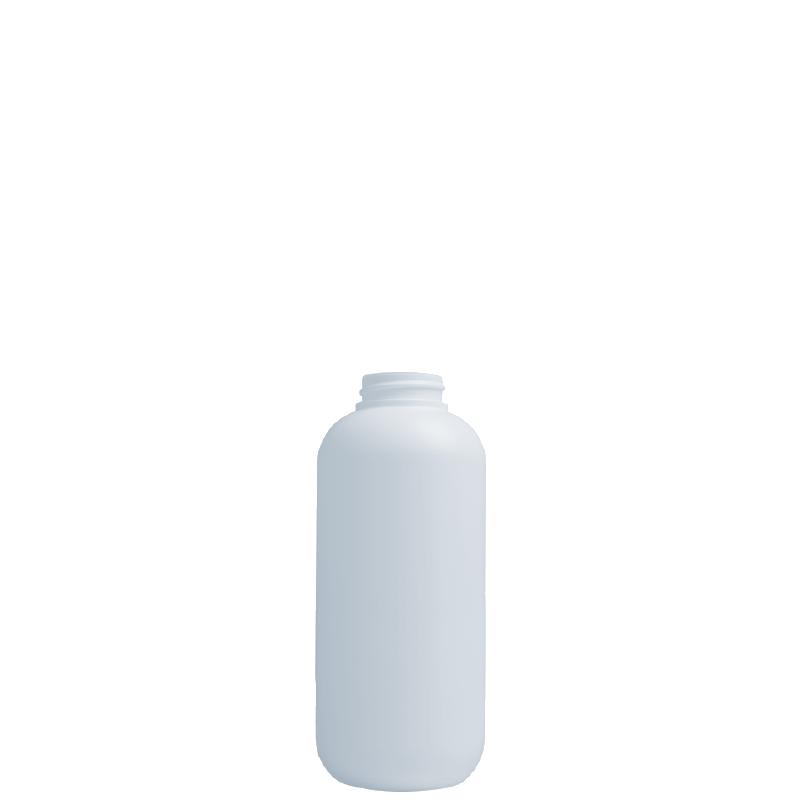 Round bottle 350 ml HDPE/SOFT TOUCH, neck 33/400, style ISCHIA