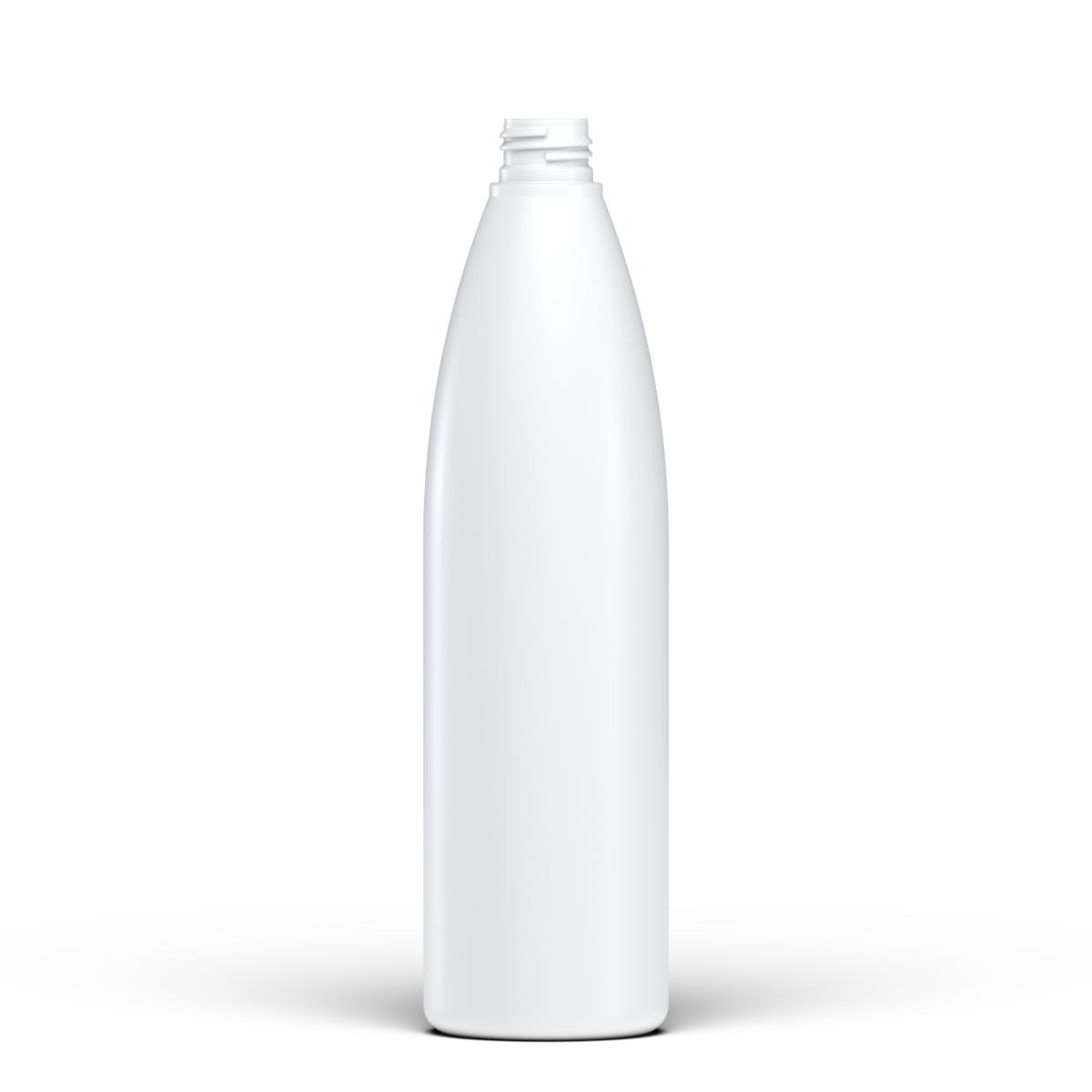Flacone cilindrico 500 ml HDPE/SOFT TOUCH, collo 24/410, linea ISCHIA (Reale)