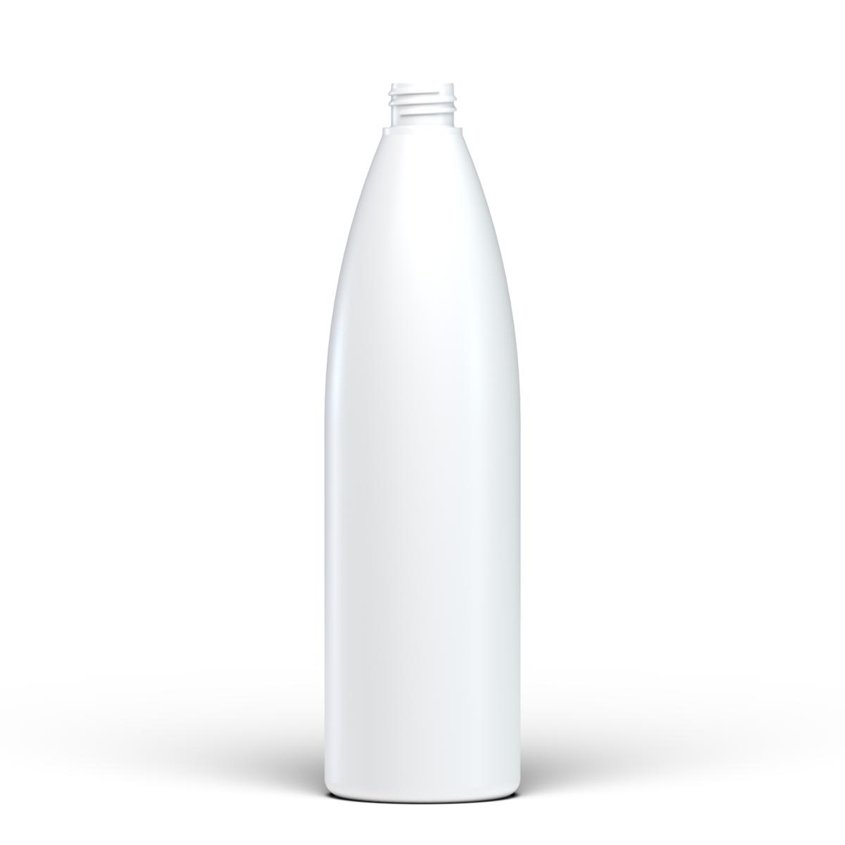 Flacone cilindrico 1 lt HDPE/SOFT TOUCH, collo 28/410, linea ISCHIA