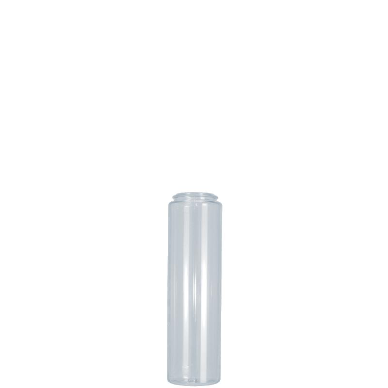 Cylindrical bottle 100 ml PETG, neck snap-on, style ATENE
