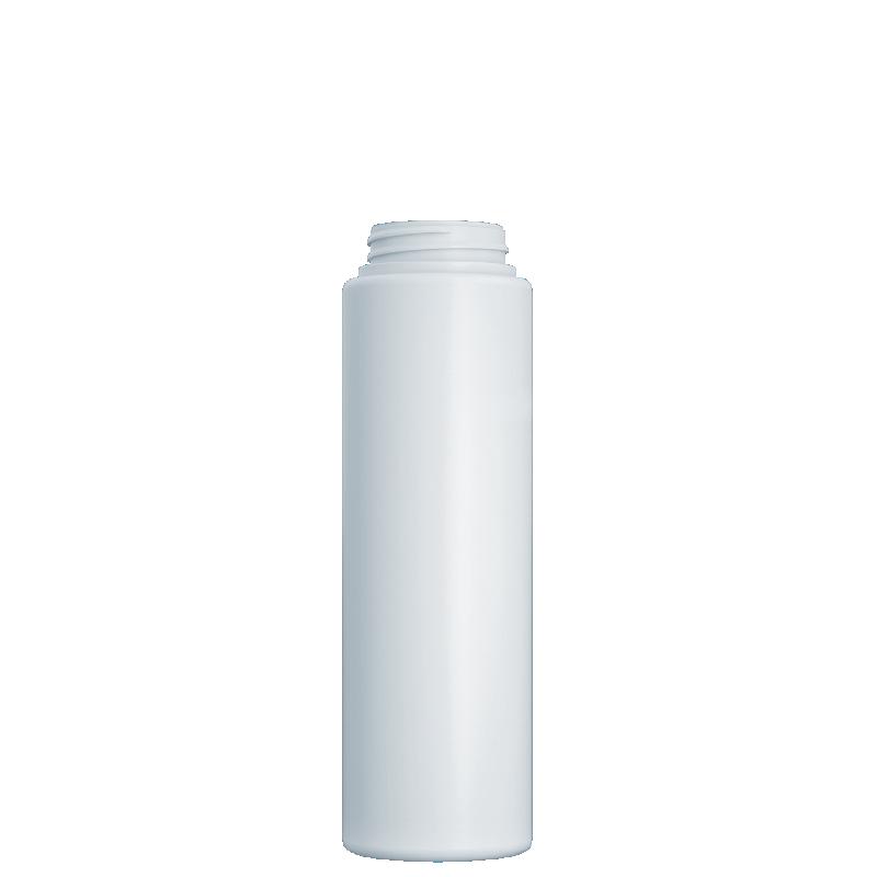 Flacone circolare 230 ml HDPE/PP, collo 34/400, linea NEW YORK