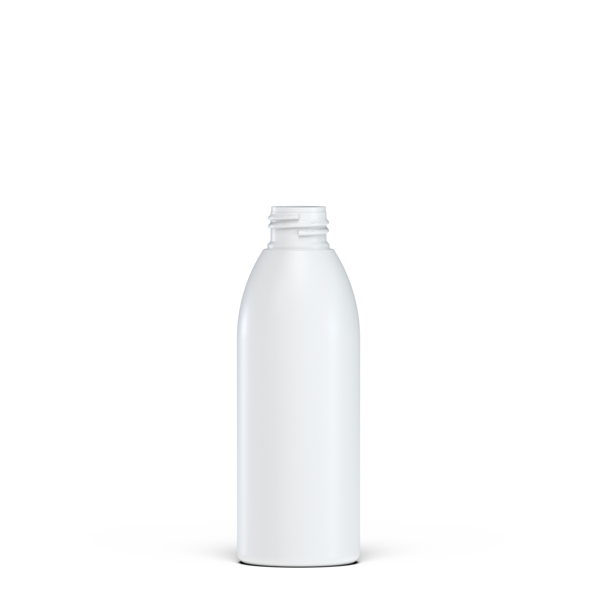 Flacone cilindrico 150 ml HDPE/SOFT TOUCH , collo 24/410, linea ISCHIA (Reale)