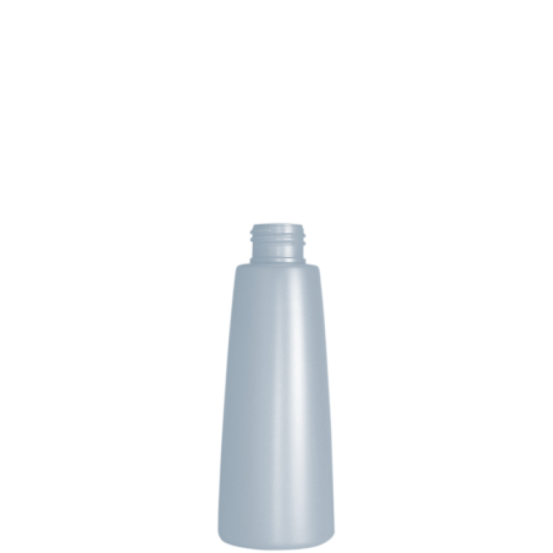 Flacone conico 150 ml HDPE/PP, collo 24/410, linea ROMA