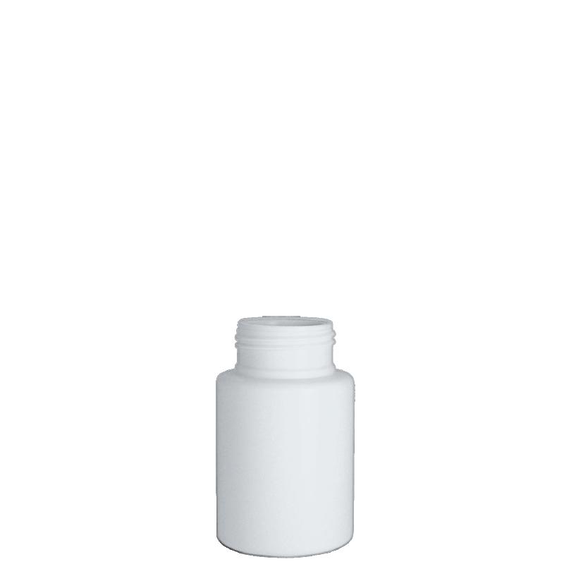 Flacone circolare 130 ml HDPE, collo 38TI, linea VILNIUS