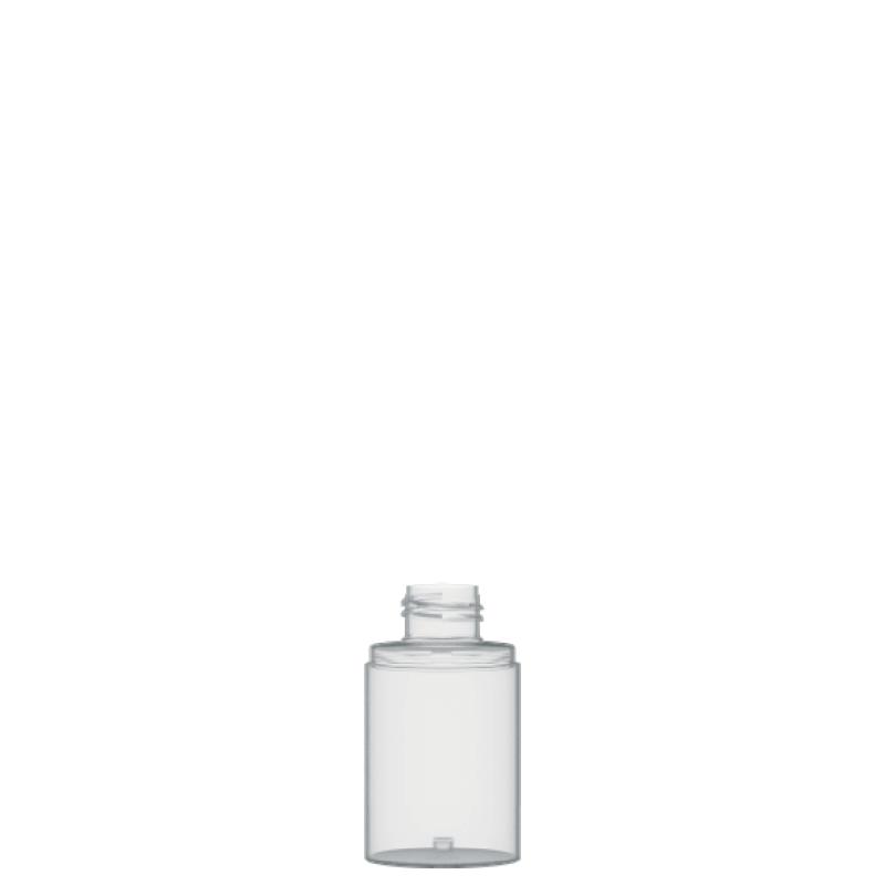 Flacone circolare 75 ml PETG, collo 24/410, linea FORTALEZA
