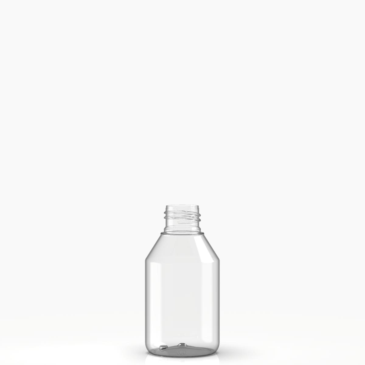 Round bottle 100 ml PET, neck 24/410, style BERNA
