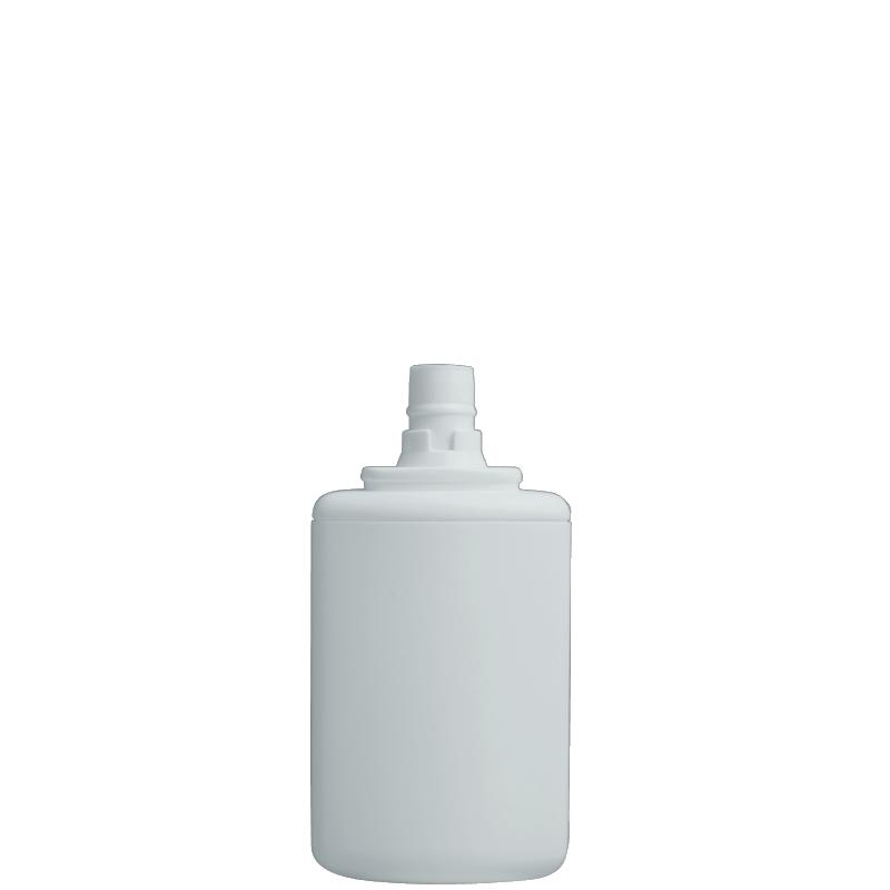 Flacone rettangolare 125 ml HDPE/PP, collo snap-on, linea FRANCOFORTE