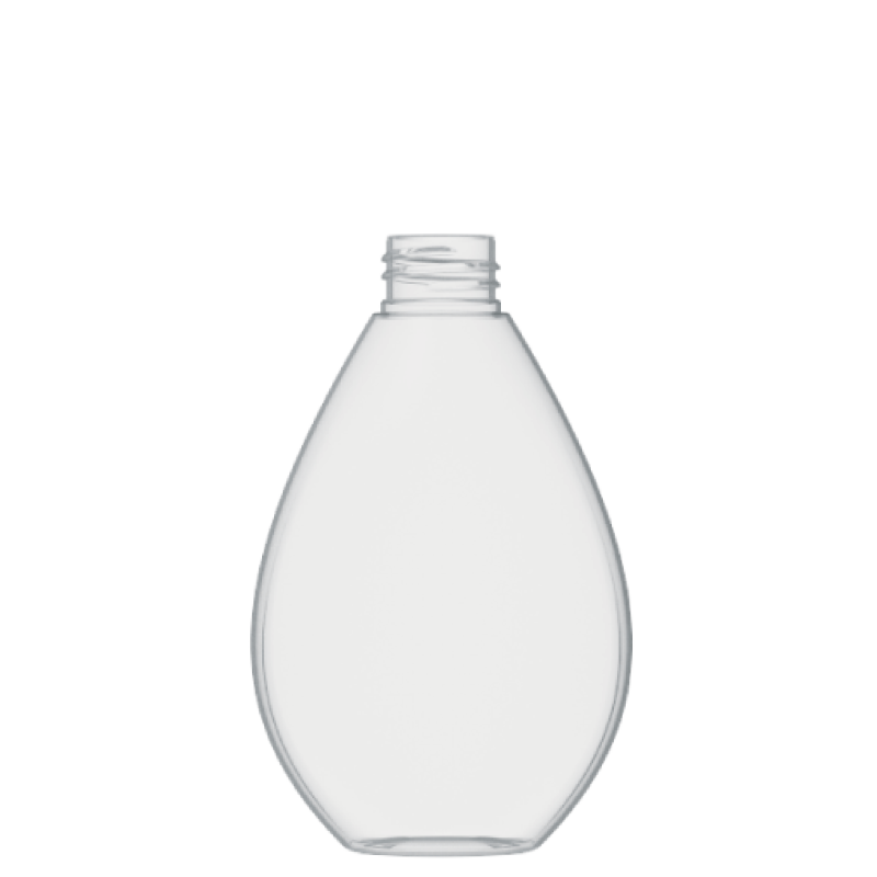 Drop shape bottle 250 ml PETG, neck 28/410, style TROPEA