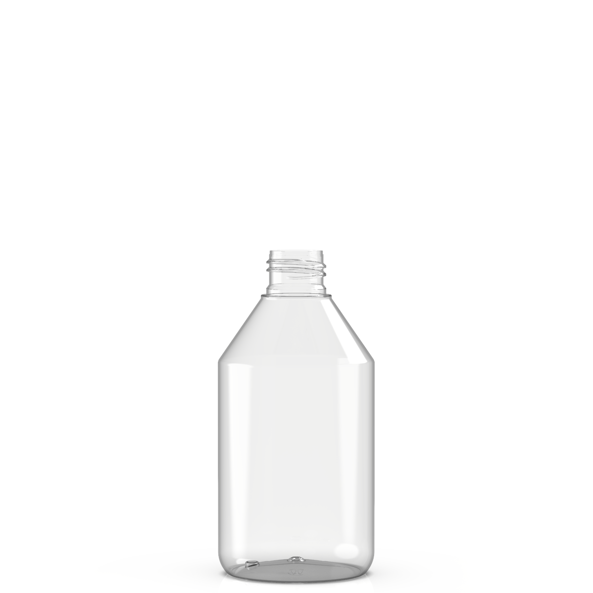 Round bottle 250 ml PET, neck 24/410, style BERNA