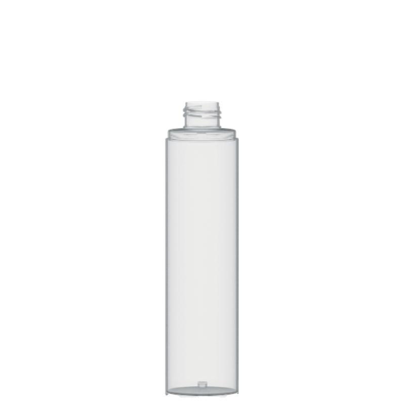 Flacone circolare 200 ml PETG, collo 24/410, linea FORTALEZA (Reale)